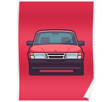 Saab 900 Front (Red) Poster