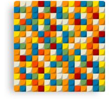 Colored mosaic seamless pattern Canvas Print