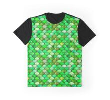 Green watercolor scales Graphic T-Shirt