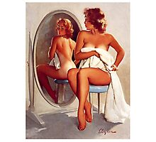 Retro - Sexy Pin Up Girl  Photographic Print