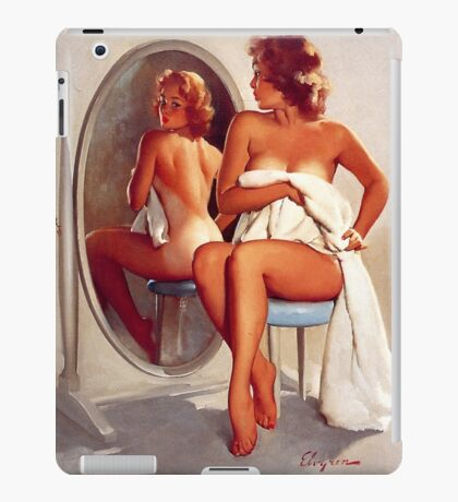 Retro - Sexy Pin Up Girl  iPad Case/Skin