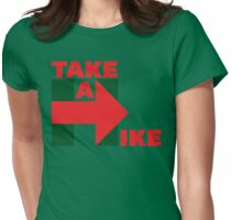 Take A Hike (Red/Green Christmas) Womens Fitted T-Shirt