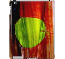 Green apple on red background iPad Case/Skin