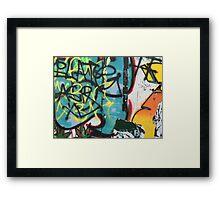 NYC Graffiti #1 Framed Print