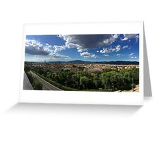 Panorama of Florence Greeting Card