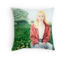 "..  Field of "" Iris's"" Throw Pillow"