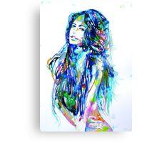 WATERCOLOR WOMAN.16 Canvas Print