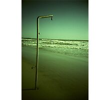 Beach shower in surreal green 35mm xpro cross processed lomographic film lomography analog photo Photographic Print