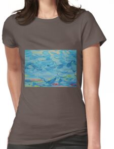 There's a face in there Womens Fitted T-Shirt