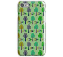 Trees and arrows iPhone Case/Skin
