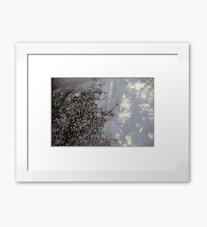 2015, Ice and Snow Framed Print