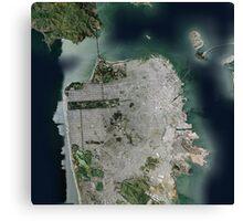San Francisco Satellite Canvas Print