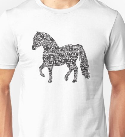 Bye Bye Lil Sebastian Calligram // Parks & Recreation Unisex T-Shirt