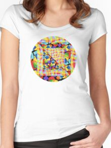 Candy Rainbow Quilt Women's Fitted Scoop T-Shirt