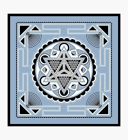 SACRED GEOMETRY - METATRONS CUBE - MERKABA - FLOWER OF LIFE - SPIRITUALITY Photographic Print