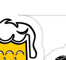 Beer Today, Lawn Tomorrow Sticker