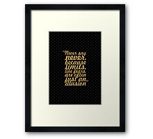 "Never say never... ""Michael Jordan"" Inspirational Quote Framed Print"