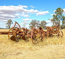 Old farm plough......discs...use to work our land. by mitpjenkeating