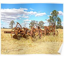 Old farm plough......discs...use to work our land. Poster