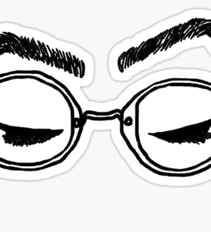 Doddleoddle eyes-black outline Sticker