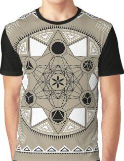 SACRED GEOMETRY - METATRONS CUBE - PLATONIC SOLIDS - FLOWER OF LIFE - SPIRITUALITY Graphic T-Shirt