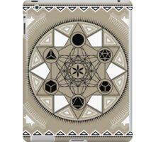 SACRED GEOMETRY - METATRONS CUBE - PLATONIC SOLIDS - FLOWER OF LIFE - SPIRITUALITY iPad Case/Skin