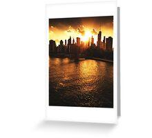 nyc skyline at dusk Greeting Card