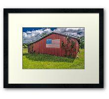 Barn Americana Framed Print