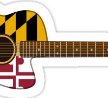Maryland Flag Guitar Sticker