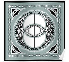 SACRED GEOMETRY - VESICA PISCIS - FLOWER OF LIFE - CHALICE WELL - SPIRITUALITY Poster