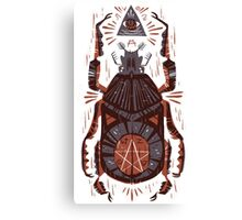 All Seeing Eye - Beetle One - Red Canvas Print