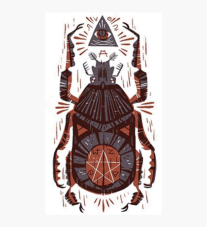 All Seeing Eye - Beetle One - Red Photographic Print