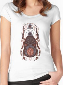 All Seeing Eye - Beetle One - Red Women's Fitted Scoop T-Shirt