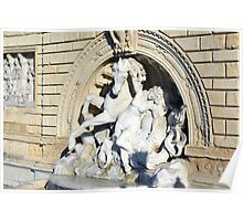Classical statuary group on the streets of Bologna, Italy Poster