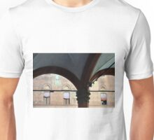 Portico with columns and arches in Bologna Unisex T-Shirt