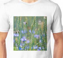 Cornflower and wheat field Unisex T-Shirt