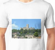Ancient fortress in Assisi, Italy Unisex T-Shirt