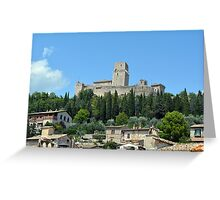 Ancient fortress in Assisi, Italy Greeting Card