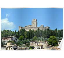 Ancient fortress in Assisi, Italy Poster