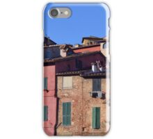 Italian colorful buildings with shutters in Siena iPhone Case/Skin