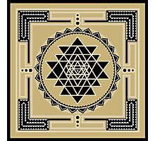 SACRED GEOMETRY - SHRI YANTRA - SPIRITUALITY - COSMIC ENERGY CONDUCTOR Photographic Print