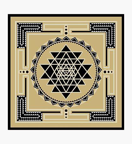 SACRED GEOMETRY - SHRI YANTRA - SPIRITUALITY - COSMIC ENERGY CONDUCTOR Photographic Print