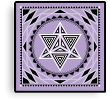 SACRED GEOMETRY - MERKABA - METATRONS CUBE - FLOWER OF LIFE - SPIRITUALITY Canvas Print