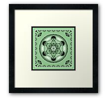 SACRED GEOMETRY - METATRONS CUBE - FLOWER OF LIFE - SPIRITUALITY Framed Print
