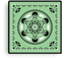 SACRED GEOMETRY - METATRONS CUBE - FLOWER OF LIFE - SPIRITUALITY Canvas Print