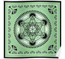 SACRED GEOMETRY - METATRONS CUBE - FLOWER OF LIFE - SPIRITUALITY Poster
