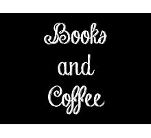Books and Coffee Photographic Print