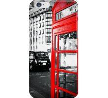 A London Red Phone Box iPhone Case/Skin
