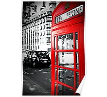 A London Red Phone Box Poster