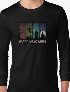 Happy Halloween - 4 Panels Long Sleeve T-Shirt
